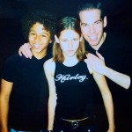 Corbin Bleu, Kristen and Todd Hofacker (assistant of director) in CTK set -2003